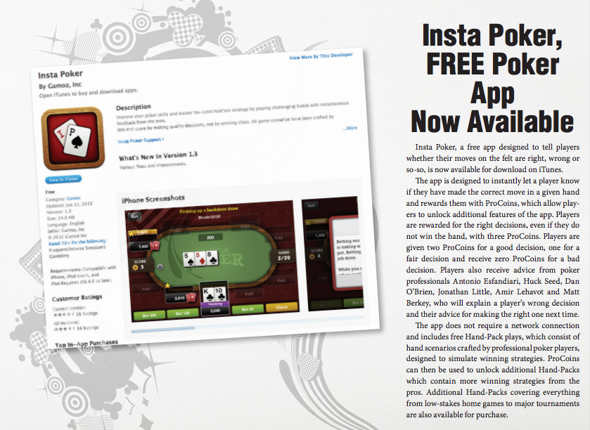 Insta Poker Makes Bluff Magazine S All Things Poker Cool List